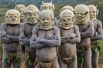 Asaro mudmen, Eastern Highlands Province, Papua New Guinea