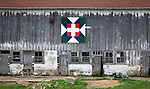 A collection of Barns that still can be seen while traveling the countryside in  the beautiful State of Wisconsin.<br /> Green County Barn Quilts-Swiss Star-.N4512 Cold Springs Rd., Monroe, WI.