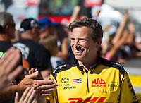 Nov 13, 2016; Pomona, CA, USA; NHRA funny car driver Del Worsham during the Auto Club Finals at Auto Club Raceway at Pomona. Mandatory Credit: Mark J. Rebilas-USA TODAY Sports