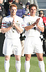 16 December 2007: Wake Forest's Pat Phelan (5) and Julian Valentin (4). The Wake Forest University Demon Deacons defeated the Ohio State Buckeyes 2-1 at SAS Stadium in Cary, North Carolina in the NCAA Division I Mens College Cup championship game.