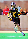 19 April 2009: University at Albany Great Dames' Attackman Joe Resetarits, a Freshman from Hamburg, NY, in action against the University of Vermont Catamounts at Moulton Winder Field in Burlington, Vermont. The Danes defeated the Cats 9-6 in Vermont's last home game of the 2009 season. Mandatory Photo Credit: Ed Wolfstein Photo