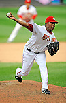 12 April 2008: Washington Nationals' pitcher Jesus Colome on the mound against the Atlanta Braves at Nationals Park, in Washington, DC. The Braves defeated the Nationals 10-2...Mandatory Photo Credit: Ed Wolfstein Photo