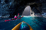 Sea Arch, Kayaking, Napali Coast, Kauai, Hawaii