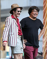 NEW YORK, NY-July 23:  Joon-ho Bong, Jake Gyllenhaal shooting on location for Netflix & Plan B Enterainment  film Okja in New York. NY July 23, 2016. Credit:RW/MediaPunch