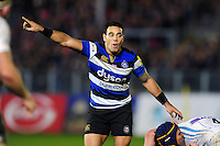 Kahn Fotuali'i of Bath Rugby. Aviva Premiership match, between Bath Rugby and Exeter Chiefs on December 31, 2016 at the Recreation Ground in Bath, England. Photo by: Patrick Khachfe / Onside Images