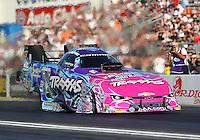 Nov 13, 2016; Pomona, CA, USA; NHRA funny car driver Courtney Force during the Auto Club Finals at Auto Club Raceway at Pomona. Mandatory Credit: Mark J. Rebilas-USA TODAY Sports