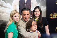 "LOS ANGELES - MAY 31:  Andy Garcia, family arriving at the ""For Greater Glory"" Premiere at AMPAS Theater on May 31, 2012 in Beverly Hills, CA"