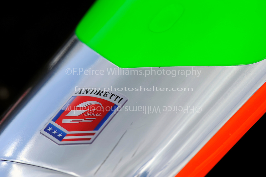 Detail: nose of James Hinchcliffe's (#27) car.