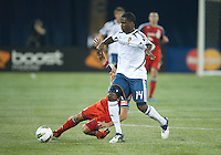 07 March 2012: LA Galaxy forward Edson Buddle #14 and Toronto FC midfielder Luis Silva #11 in action during a CONCACAF Champions League game between the LA Galaxy and Toronto FC at the Rogers Centre in Toronto.