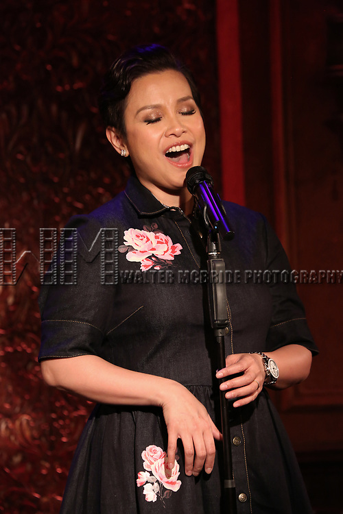Lea Salonga previews her show 'ENCORE'  at Feinsteins/54 Below on May 8, 2017 in New York City.