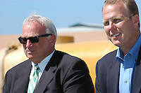 May 30 2008.  Liberty Station, Point Loma, CA, USA.  San Diego City Mayor Jerry Sanders and Councilmember (District 2) Kevin Faulconer attend a ground breaking ceremony for Phase 2 of the NTC Park development at Liberty Station.   The 28 acre park will include landscape for passive uses, two large pinic areas, benches & barbeques, restrooms, a playground, walking trails, large open spaces and open spaces.  It is anticipated to be completed by Summer 2009.