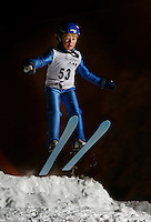 Olav Presteg&aring;rd (8) ski jumping in Schr&oslash;derbakken, near the center of Oslo.