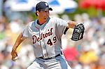 13 March 2007: Detroit Tigers pitcher Jason Grilli in the action against the Los Angeles Dodgers at Holman Stadium in Vero Beach, Florida.<br /> <br /> Mandatory Photo Credit: Ed Wolfstein Photo