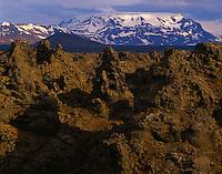 Lava formations Myvatn Nature Preserve, Iceland Dimmuborgir Lava Flow May Near Lake Myvatn Evening 45 H IC3