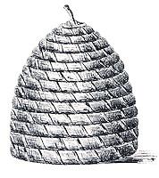 Beekeeping ancient drawing