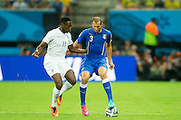 Danny Welbeck of England and Giorgio Chiellini of Italy