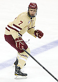 Isaac MacLeod (BC - 7) - The Boston College Eagles defeated the visiting Northeastern University Huskies 3-0 after a banner-raising ceremony for BC's 2012 national championship on Saturday, October 20, 2012, at Kelley Rink in Conte Forum in Chestnut Hill, Massachusetts.