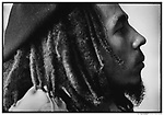 Reaggae singer Bob MARLEY, of the Wailers, at home in Kingston, Jamaica, March 1976...1999 © David BURNETT (CONTACT PRESS IMAGES)