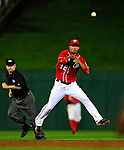 22 August 2009: Washington Nationals' infielder Alberto Gonzalez in action against the Milwaukee Brewers at Nationals Park in Washington, DC. The Nationals fell to the Brewers 11-9 in the second game of their four-game series. Mandatory Credit: Ed Wolfstein Photo