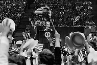 October 22nd 1972, New York, USA. Republican President Richard Nixon campaigning in the New York suburbs with his wife Thelma Catherine Patricia Ryan Nixon for re-election against the Democratic candidate Senator George McGovern for Presidency.