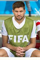 Steven Gerrard of England starts on the bench