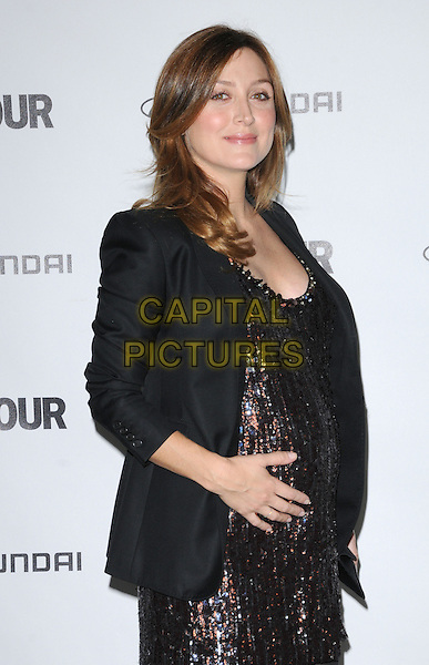 SASHA ALEXANDER .at The Glamour Reel Moments Presented by Hyundai , the Series of Short Films Written and Directed by Women in Hollywood held at The Directors Guild of America in West Hollywood, California, USA, .October 25th 2010..half length black jacket dress silver sparkly pregnant hand on bump side .CAP/RKE/DVS.©DVS/RockinExposures/Capital Pictures.