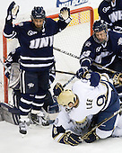 Phil DeSimone (UNH - 39), Riley Sheahan (Notre Dame - 4), Anders Lee (Notre Dame - 9), Mike Beck (UNH - 25) - The University of Notre Dame Fighting Irish defeated the University of New Hampshire Wildcats 2-1 in the NCAA Northeast Regional Final on Sunday, March 27, 2011, at Verizon Wireless Arena in Manchester, New Hampshire.