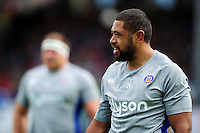 Taulupe Faletau of Bath Rugby looks on during the pre-match warm-up. Pre-season friendly match, between the Scarlets and Bath Rugby on August 20, 2016 at Eirias Park in Colwyn Bay, Wales. Photo by: Patrick Khachfe / Onside Images