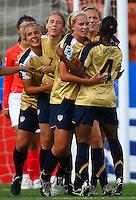 USA celebrate a goal..FIFA U17 Women's World Cup, USA v Korea Republic, Waikato Stadium, Hamilton, New Zealand, Sunday 9 November 2008. Photo: Renee McKay/PHOTOSPORT