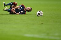 FUSSBALL   CHAMPIONS LEAGUE   SAISON 2013/2014   Vorrunde FC Bayern Muenchen - ZSKA Moskau       17.09.2013 Rafinha (FC Bayern Muenchen) verletzt