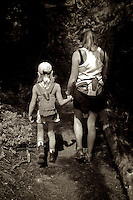 Trail hike together