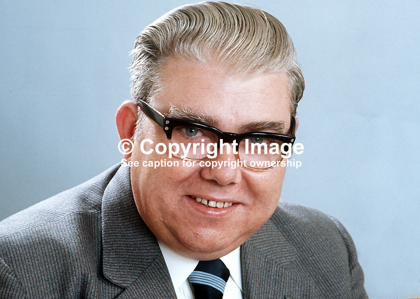 William Gunning, aka Billy Gunning, N Ireland Labour Party, candidate, North Belfast, in N Ireland Assembly Election 1973. 197305020259..Copyright Image from Victor Patterson, 54 Dorchester Park, Belfast, United Kingdom, UK...For my Terms and Conditions of Use go to http://www.victorpatterson.com/Victor_Patterson/Terms_%26_Conditions.html
