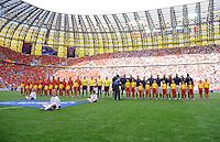 FUSSBALL  EUROPAMEISTERSCHAFT 2012   VORRUNDE Spanien - Italien            10.06.2012 Aufstellung der Mannschaften