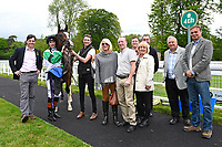 Connections of Cecilator in the winners enclosure with jockey Dougie Costello during Afternoon Racing at Salisbury Racecourse on 18th May 2017