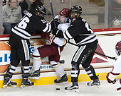 Brian Pinho (PC - 26), Jesper Mattila (BC - 8), Erik Foley (PC - 12) - The Boston College Eagles defeated the visiting Providence College Friars 3-1 on Friday, October 28, 2016, at Kelley Rink in Conte Forum in Chestnut Hill, Massachusetts.The Boston College Eagles defeated the visiting Providence College Friars 3-1 on Friday, October 28, 2016, at Kelley Rink in Conte Forum in Chestnut Hill, Massachusetts.