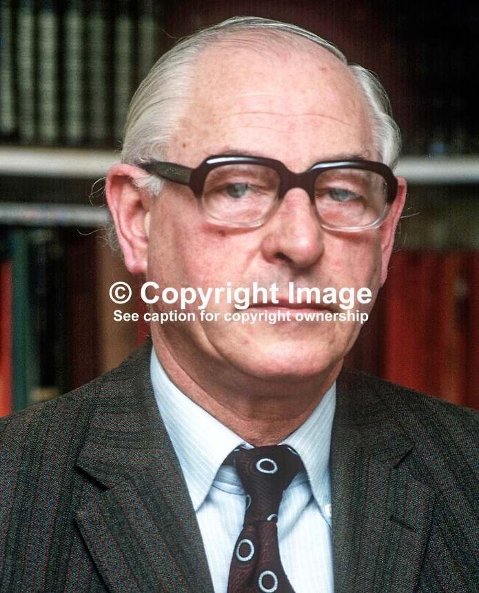 Stephen McGonigle, Londonderry, trade unionist, politician, N Ireland Ombudsman, 1974 to 1979, 197803000114a.<br />