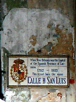 tile street name on Napoleon house wall