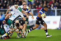 Semesa Rokoduguni of Bath Rugby breaks through the Northampton Saints defence. Aviva Premiership match, between Bath Rugby and Northampton Saints on February 10, 2017 at the Recreation Ground in Bath, England. Photo by: Patrick Khachfe / Onside Images