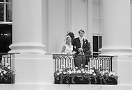 March 1971, Washington, DC, USA --- President Richard Nixon's daughter Tricia Nixon weds Edward Cox at the White House. --- Image by © JP Laffont
