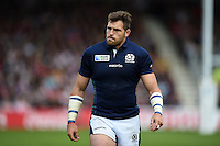 Sean Lamont of Scotland looks on during a break in play. Rugby World Cup Pool B match between Scotland and Japan on September 23, 2015 at Kingsholm Stadium in Gloucester, England. Photo by: Patrick Khachfe / Onside Images