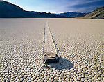 Dolomite rock, pushed by wind, leaves a distinct impression, Death Valley, California, USA