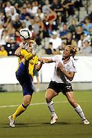 Anica Svensson #22, Rachel Buehler...USWNT tied Sweden 1-1 at Morrison Stadium, Omaha Nebraska.