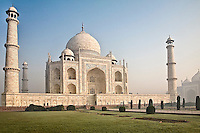 Exterior view of Taj Mahal, built by the Mughal emperor Shah Jahan in the memory of his beloved wife Mumtaz Mahal. (Photo by Matt Considine - Images of Asia Collection)