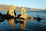 The Mono Lake Tufa State Reserve is located near Yosemite National Park within Mono County, in eastern California. It was established in 1981 by the California State Legislature, to preserve the natural limestone &quot;tufa tower&quot; formations at Mono Lake calcium-carbonate spires and knobs formed by interaction of freshwater springs and alkaline lake water. It also protects the lake surface itself as well as the wetlands and other sensitive habitat for the 1 to 2 million birds that feed and rest at Mono Lake each year.