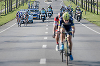 Jens Keukeleire (BEL/Orica-Scott) &amp; Greg Van Avermaet (BEL/BMC) jumped away from their competitors and force the final/decisive move that way, while Niki Terpstra (NED/Quick-Step Floors) &amp; Peter Sagan (SVK/Bora-Hansgrohe) aren't willing to close the gap and try to outrun each other instead<br /> <br /> 79th Gent-Wevelgem 2017 (1.UWT)<br /> 1day race: Deinze &rsaquo; Wevelgem - BEL (249km)