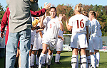 Florida State's Teresa Rivera (3) is introduced before the game on Wednesday, November 2nd, 2005 at SAS Stadium in Cary, North Carolina. The Florida State University Seminoles defeated the Clemson University Tigers 4-0 during their Atlantic Coast Conference Tournament Quarterfinal game.