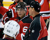Tony Romano and Kurt Kleinendorst take part in the third session on Saturday, September 15, 2007 of the New Jersey Devils training camp on Rink 2 of the Richard E. Codey Arena at South Mountain in West Orange, New Jersey...