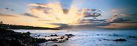 Sunset from the north shore of Maui. Ho'okipa beach park.