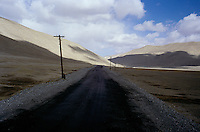 Few kilometres from the Kyzylart pass at 4289 meters high and is Kyrgyz frontier..The M41 Highway from the Ismaili capital of Khorog to the south capital of Kyrgyzstan - Osh, via the head district of Badakhshan - Murgab and the Akbajtal Pass at 4655 meters.