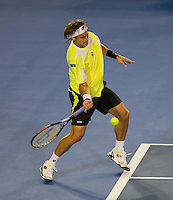 David Ferrer (ESP) (7) against Andy Murray (GBR) (1) in the Semi-Finals of the men's singles. Andy Murray beat David Ferrer 4-6 7-6 6-1 7-6..International Tennis - Australian Open  -  Melbourne Park - Melbourne - Day 12 - Fri 28th January 2011..© Frey - AMN Images, Level 1, Barry House, 20-22 Worple Road, London, SW19 4DH.Tel - +44 208 947 0100.Email - Mfrey@advantagemedianet.com.Web - www.amnimages.photshelter.com